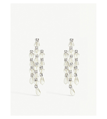SIMONE ROCHA Stone drop earrings (Pearl
