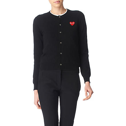 PLAY Heart cardigan (Black
