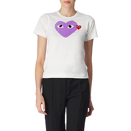 PLAY Heart t-shirt (Purple