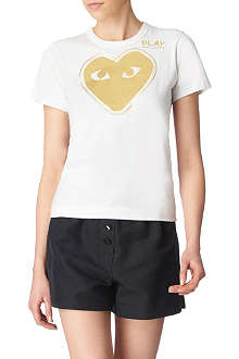COMME DES GARCONS PLAY Metallic heart t–shirt
