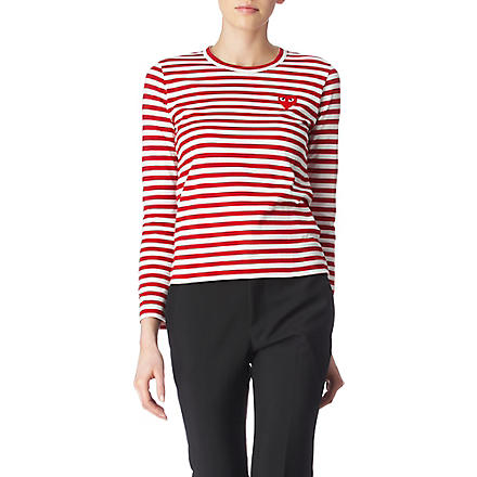 PLAY Striped heart top (Red
