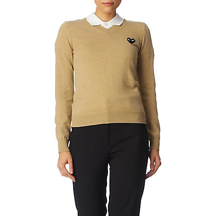 PLAY V-neck jumper (Camel