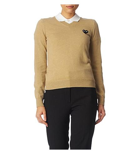 PLAY V-neck jumper (Camel