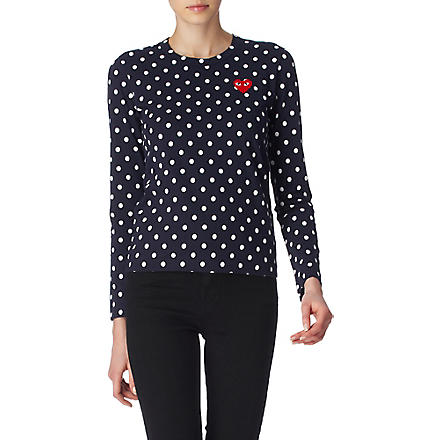 PLAY Polka-dot top (Navy
