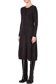 A.F.VANDEVORST Long-sleeved wool jaquard dress