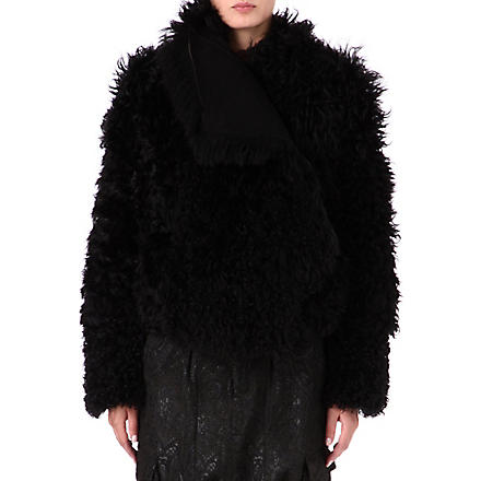 A.F.VANDEVORST Vague shearling coat (Black