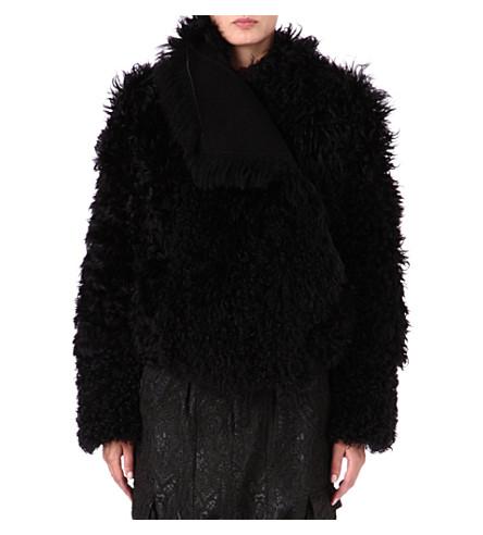 A.F.VANDEVORST Vague shearling coat (Black
