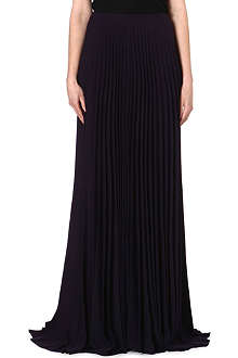 A.F.VANDEVORST Long pleated crepe skirt