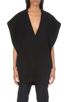 A.F.VANDEVORST Dollar v-neck wool-blend top