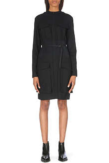 A.F.VANDEVORST Dwelling belted wool-blend dress