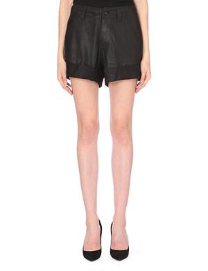 A.F.VANDEVORST Turn-up hem leather shorts