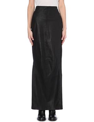 A.F.VANDEVORST Leather maxi skirt