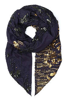 A.F.VANDEVORST Beaded shawl scarf