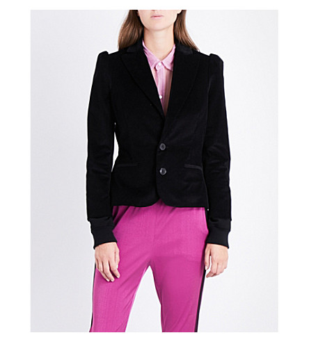 A.F.VANDEVORST Single-breasted stretch-cotton corduroy blazer (Black/black