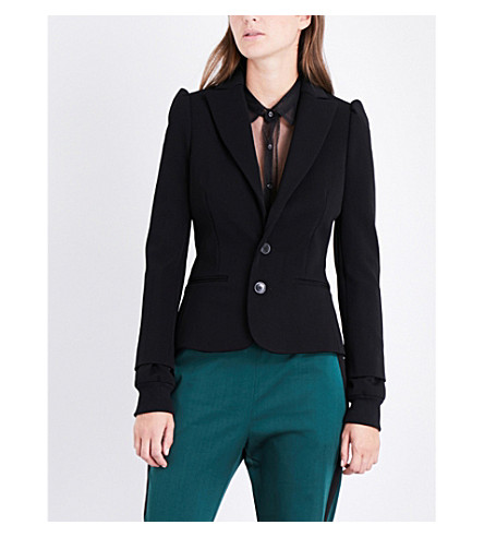 A.F.VANDEVORST Single-breasted woven blazer (Black