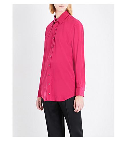 A.F.VANDEVORST Double placket silk-blend shirt (Pink