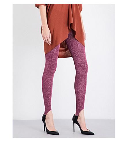 A.F.VANDEVORST Skinny high-rise metallic lurex leggings (Pink