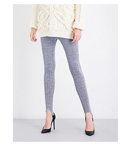 A.F.VANDEVORST Skinny high-rise metallic lurex leggings (Silver