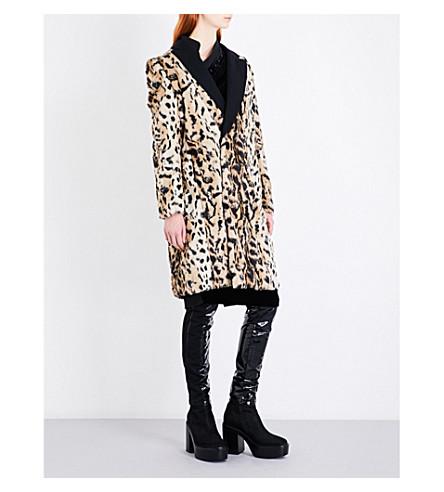 A.F.VANDEVORST Mentalist leopard-print faux-fur coat (Leopard/black