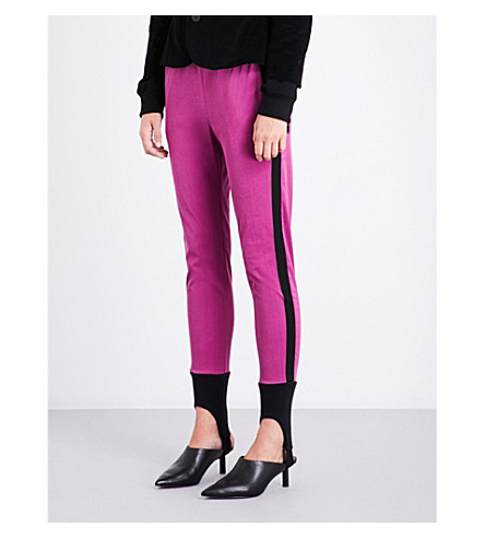 A.F.VANDEVORST Stirrup skinny stretch leggings (Fushia/black