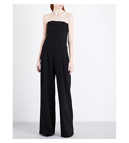 A.F.VANDEVORST Strapless wide-leg woven jumpsuit (Black