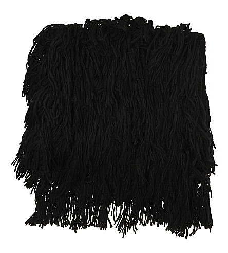 A.F.VANDEVORST Tripper virgin wool-alpaca blend poncho (Black/black