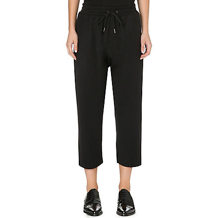 DAMIR DOMA Cropped stretch-crepe trousers (Black