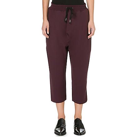 DAMIR DOMA Cropped stretch-crepe trousers (Wine