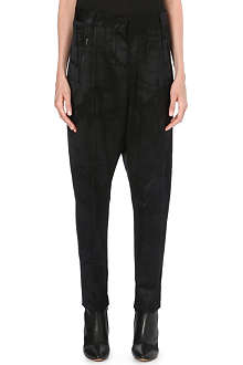 DAMIR DOMA Dropped crotch wool-blend trousers