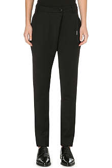 DAMIR DOMA Pleated stretch-crepe trousers