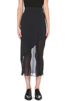 DAMIR DOMA Rokel asymmetric silk-panelled skirt