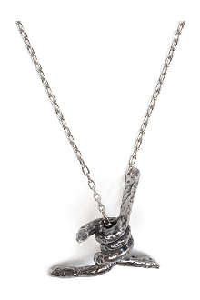 TOM BINNS Barbed wire pendant necklace
