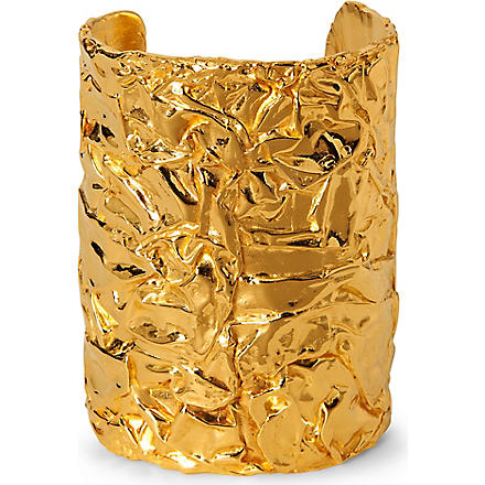 TOM BINNS Foil cuff (Gold
