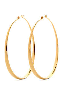 TOM BINNS Oversized gold-plated hoop earrings