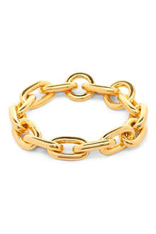 TOM BINNS 24ct gold-plated chain bracelet