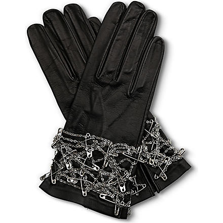 TOM BINNS Safety pin gloves (Black