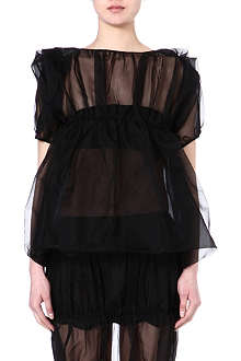 JW ANDERSON Sheer silk top