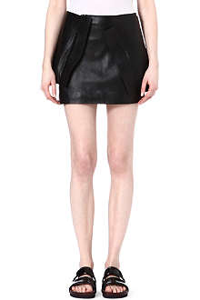 JW ANDERSON Leather mini skirt