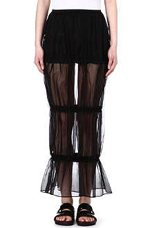 JW ANDERSON Sheer silk skirt