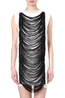 JW ANDERSON Fringe-detail silk dress