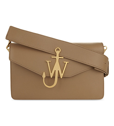 JW ANDERSON Anchor logo leather shoulder bag (Ash