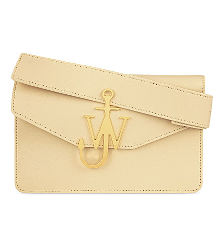 JW ANDERSON Anchor logo leather shoulder bag (Cream