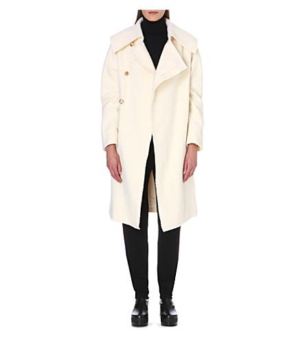 JW ANDERSON Oversized-collar wool coat (Cream