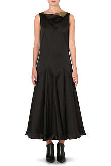 JW ANDERSON Pleated-skirt silk-satin dress