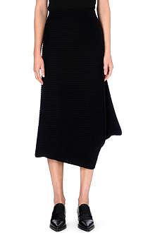 JW ANDERSON Curved-hem wool skirt