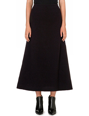 JW ANDERSON Flared wool maxi skirt