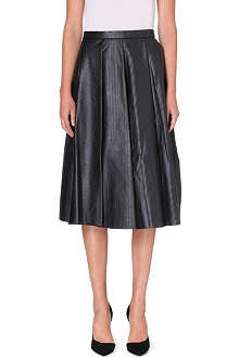 JW ANDERSON Pleated leather midi-skirt