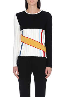JW ANDERSON Colour-block knitted jumper