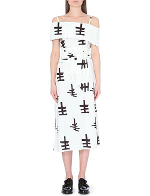 JW ANDERSON Symbol-print stretch-knit dress