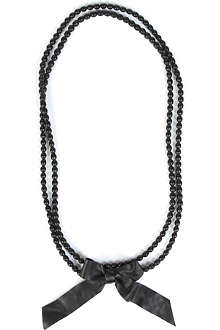 NATALIA BRILLI Le Sautoir leather bead necklace